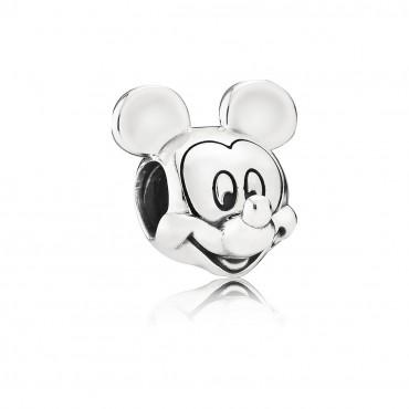Charm en plata de ley Retrato Mickey
