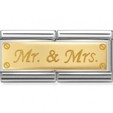 Link Doble Mr and Mrs en oro