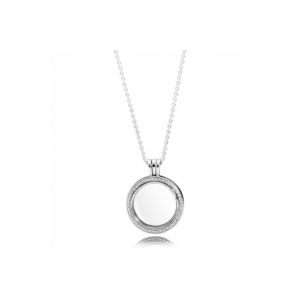 Colgante Locket Brillante en plata