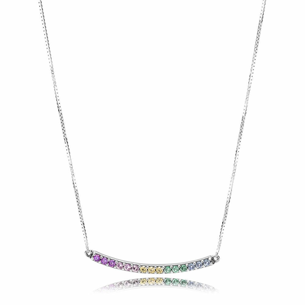 Collar Pandora Arcoiris Multicolor