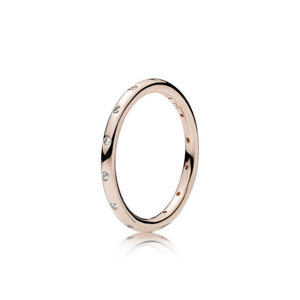 PANDORA - Anillo Rose Gotas Brillantes