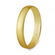Alianza de boda oro media caña 3,5mm