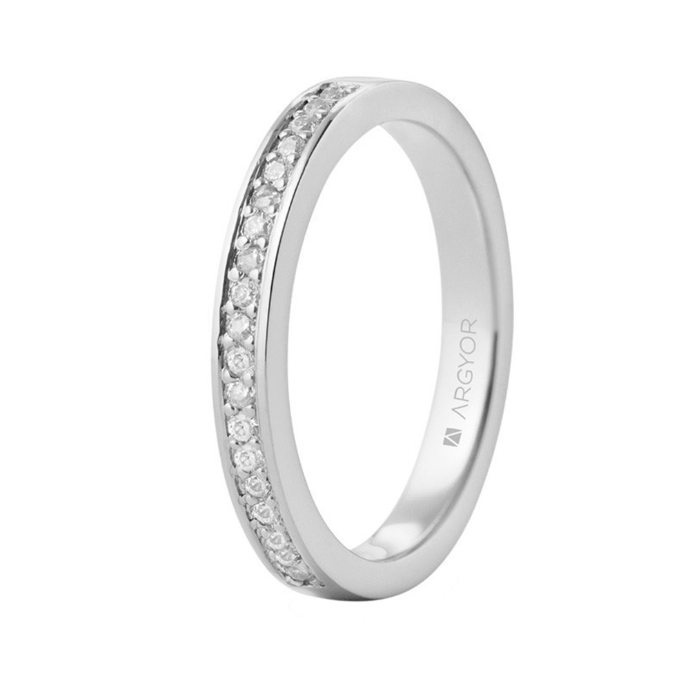Anillo de platino y 19 diamantes 0.23ct