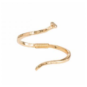 Pulsera espiral oro UNOde50