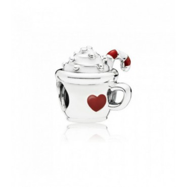 Charm en plata Chocolate Caliente
