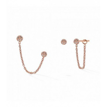 Pendientes Chained Gold&Roses