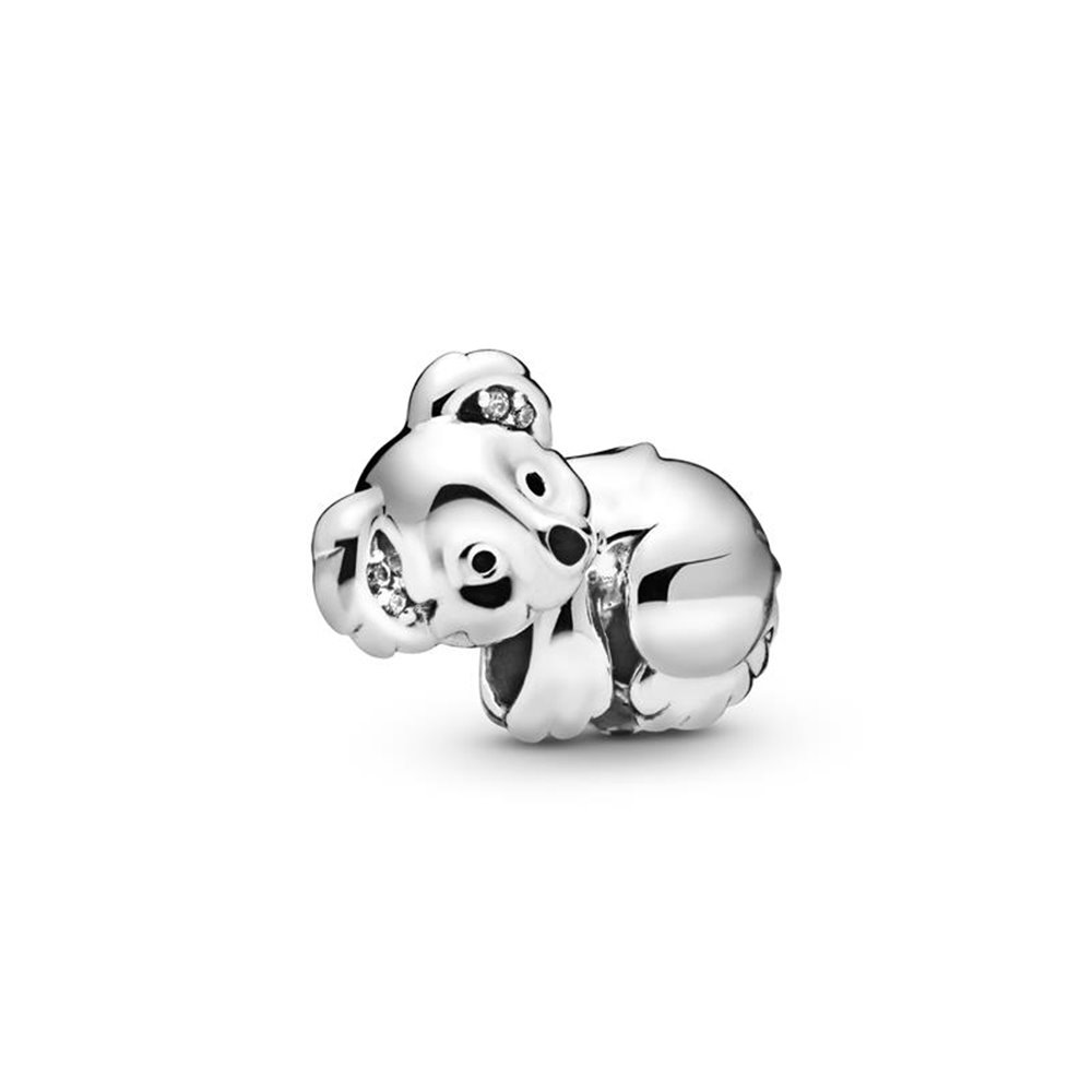 Koala sterling silver charm with clear c