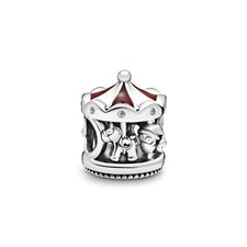 Carousel sterling silver charm with clea