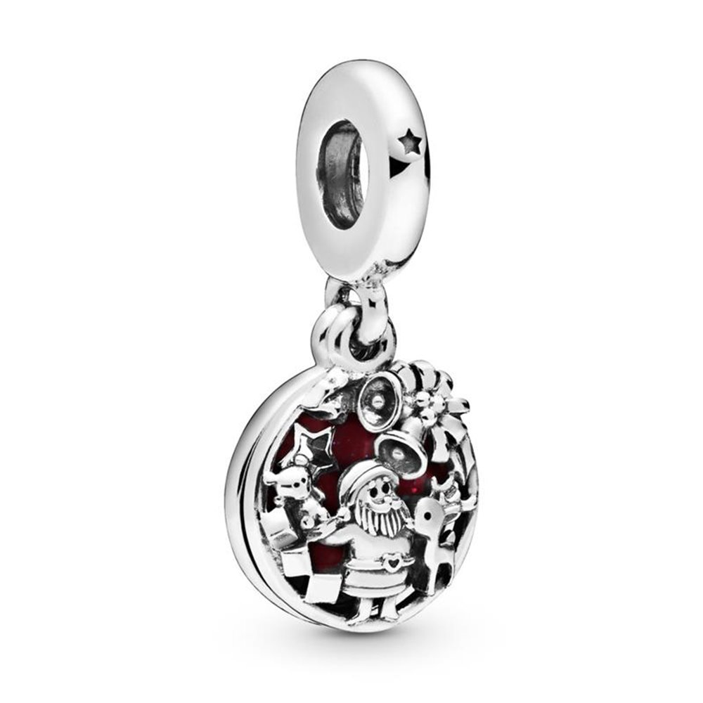 Santa Claus sterling silver dangle with