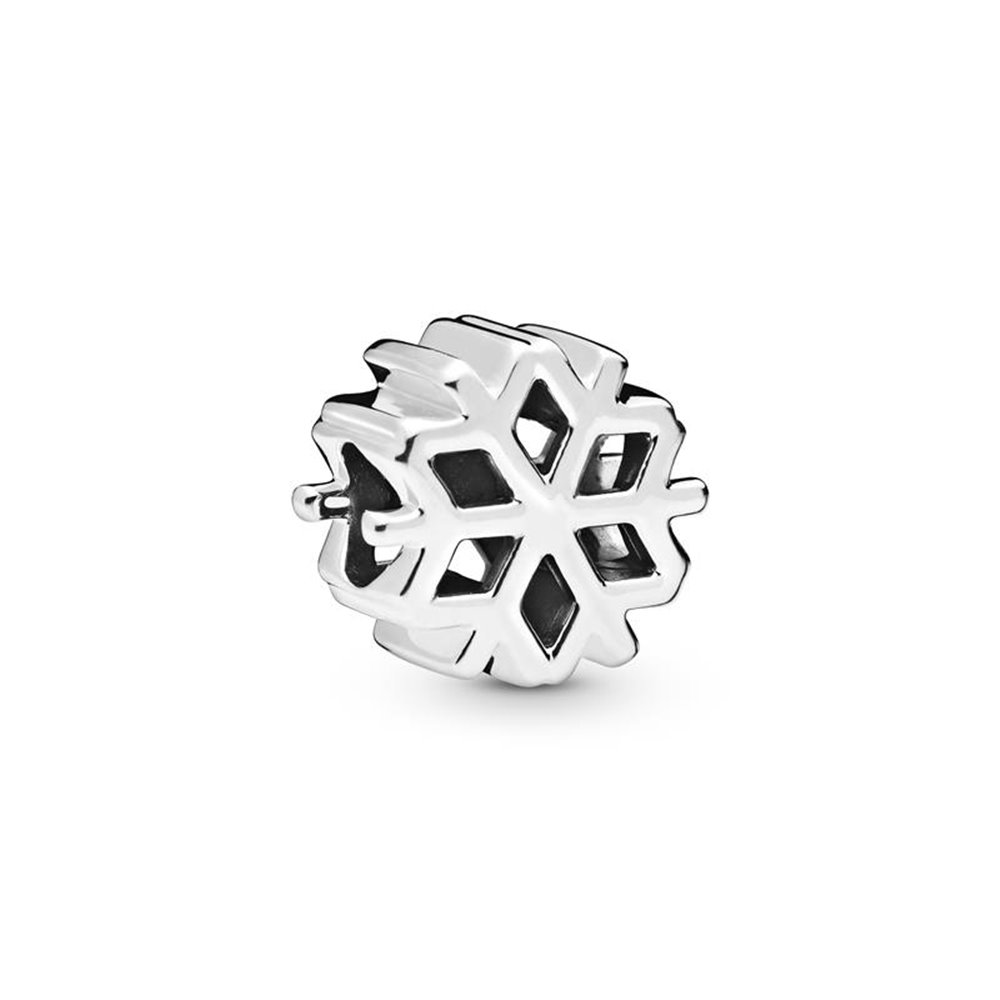 Snowflake sterlling silver charm