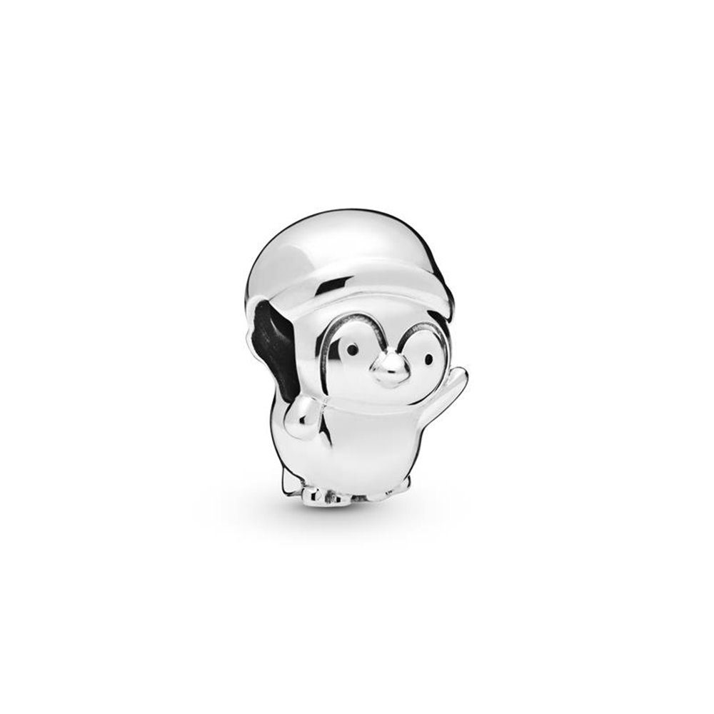 Penguin sterling silver charm