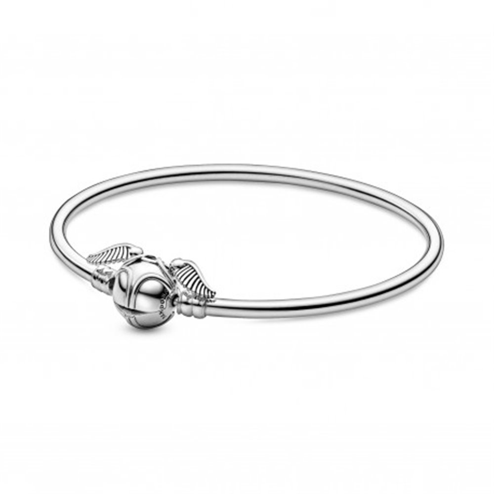 Pulsera Moments en plata de ley Harry Potter con cierre Snitch Dorada