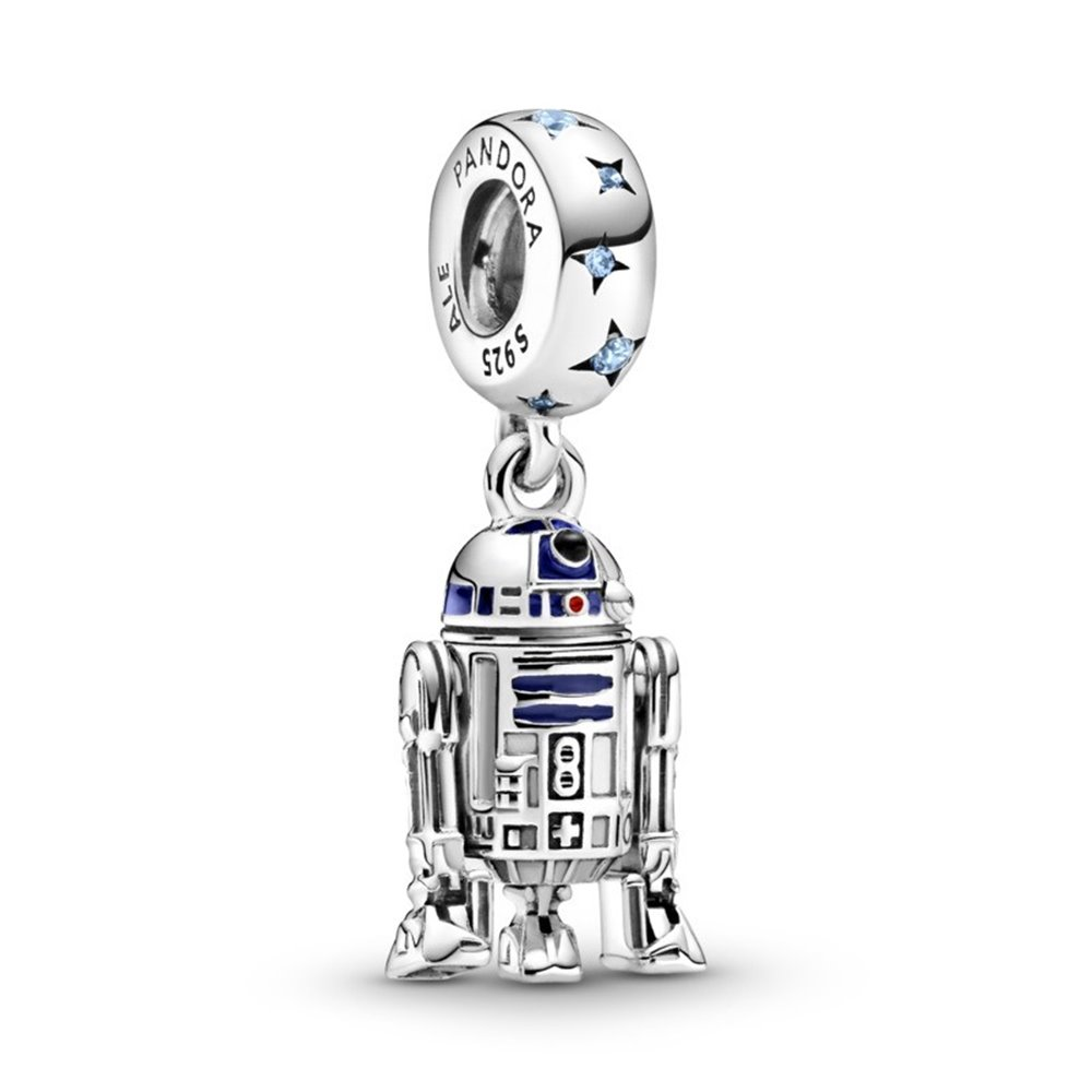 Star Wars R2D2 sterling silver dangle wi